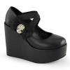 POISON-02 Black Vegan Leather